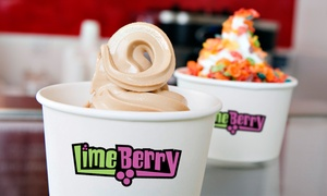 LIMEberry Yogurt: $10 for a Five-Punch Card, Each Punch Good for $4 Worth of Frozen Yogurt at LimeBerry Yogurt ($20 Total Value)