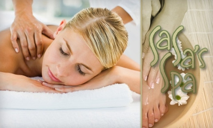 SaSa's Spa - Bolton Hill: $48 for a One-Hour Massage and Half-Hour Exfoliating Foot Treatment at SaSa's Spa ($127.50 Value)