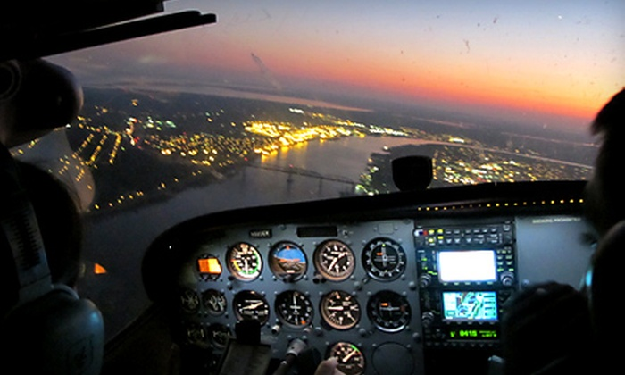 Flight Academy of New Orleans - Little Woods: $125 for a Romantic Aerial Tour for Two from Flight Academy of New Orleans ($250 Value)