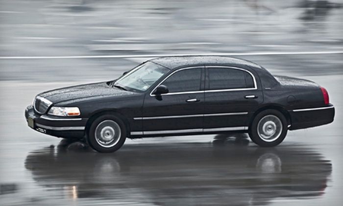 Border Limousine Service - Multiple Locations: One-Way or Round-Trip Airport Pickup Service in a Sedan or SUV from Border Limousine Service (Up to 59% Off)
