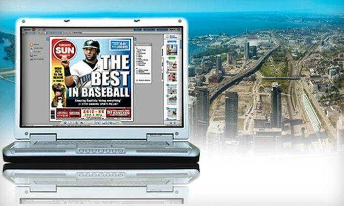 """Toronto Sun"" - Downtown Toronto: $20 for One-Year E-Edition Subscription to the ""Toronto Sun"" ($54.10 Value)"