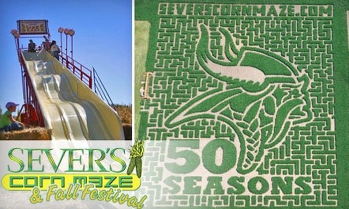 Sever's Corn Maze - Shakopee: $5 Admission to Sever's Corn Maze & Fall Festival ($11 Value)