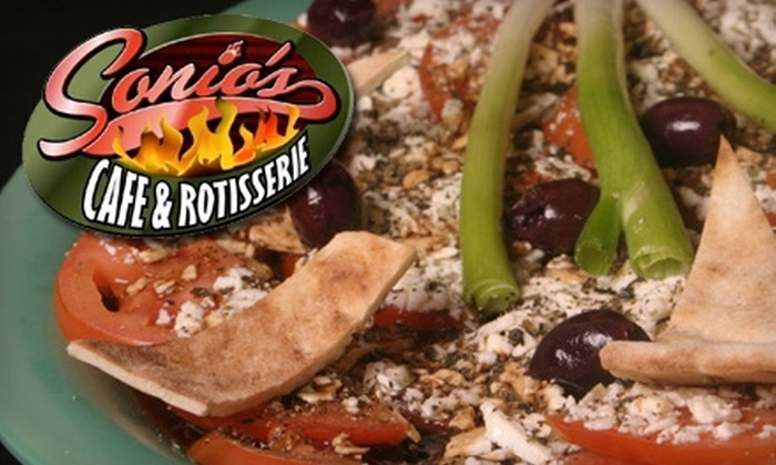 Sonio's Cafe & Rotisserie - Meadows: $7 for $14 Worth of Chicken and More at Sonio's Cafe and Rotisserie