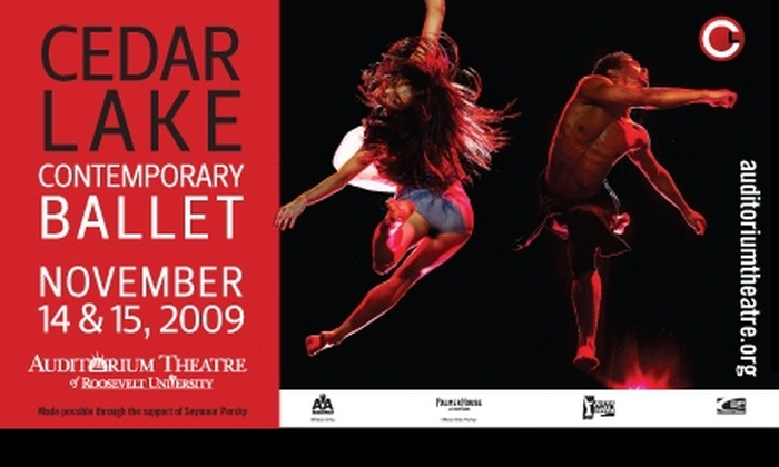 Auditorium Theatre - South Loop: Tickets to Cedar Lake Contemporary Ballet for 11/14 or 11/15. Buy Here for $20 Main Floor Back Tickets. $32 Tickets Below.