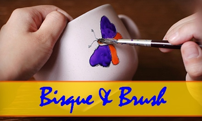 Bisque & Brush - Henrietta: $12 for $25 of Paint-Your-Own Pottery at Bisque & Brush
