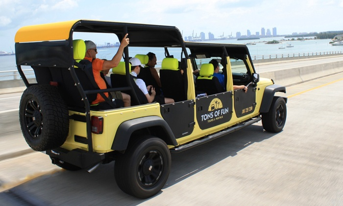 Tons of Fun Jeep Tours and Rentals - Coral Gables Section: Tour, Kids'Jeep-Themed Birthday Party, or an Everglades Tour at Tons of Fun Jeep Tours and Rentals (51% Off)