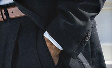 $500 Toward a Custom Suit or Custom Coat & Slack Combo - Executive's Cutting Edge in Raleigh