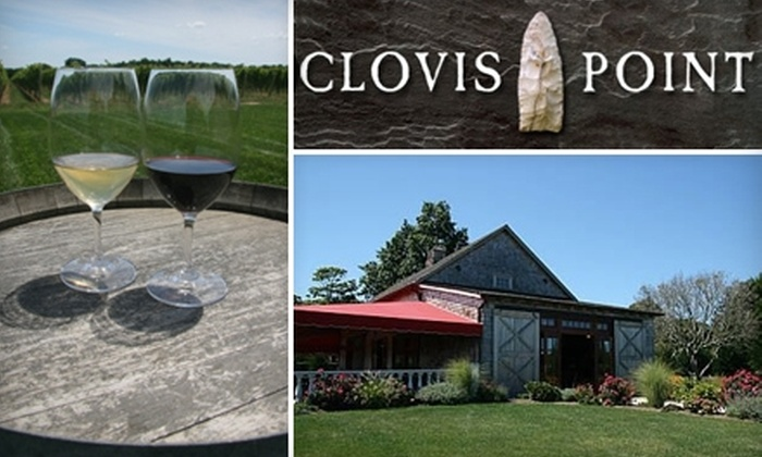 Clovis Point Wines - Riverhead: $30 for a Tour for Two, Wine Tasting, Cheese Platter, and Glass of Wine at Clovis Point Wines
