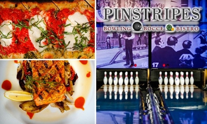Pinstripes, Inc. - Edina: $20 for $40 Worth of Bowling, Bocce, and Bistro Cuisine at Pinstripes