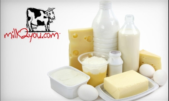 Milk2you - Omaha: $25 for $50 Worth of Delivered Groceries and Goods from Milk2You