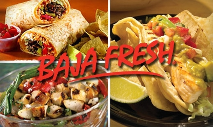 Baja Fresh - Multiple Locations: $10 for $20 Worth of Fresh Mexican Fare and Drinks at Baja
