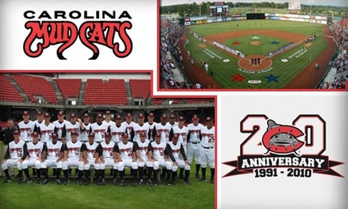 Carolina Mudcats - Zebulon: $15 for a Family Four-Pack of Tickets to Carolina Mudcats Baseball (Up to $40 Value)