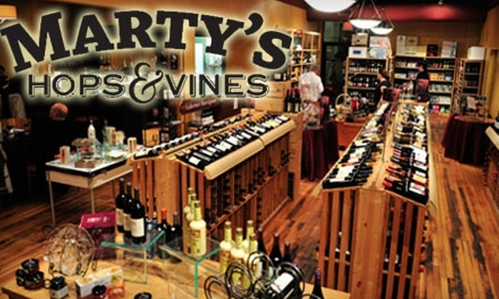 Marty's Hops and Vines - College Hill: $7 for $15 Worth of Wine, Beer, and Small Plates at Marty's Hops & Vines