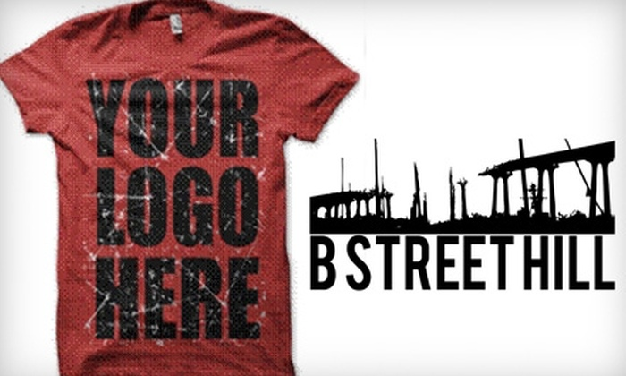 BStreetHill: $20 for $40 Worth of Custom-Printed Clothing from BStreetHill