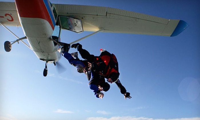 Adventure Skydiving - Steinbach: Tandem Skydiving Jump or Skydiving-Certification Program at Adventure Skydiving in Steinbach (Up to Half Off)