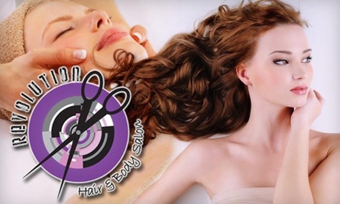 Revolution Hair & Body Salon - Multnomah: $49 for $105 Worth of Salon and Spa Services at Revolution Hair & Body Salon