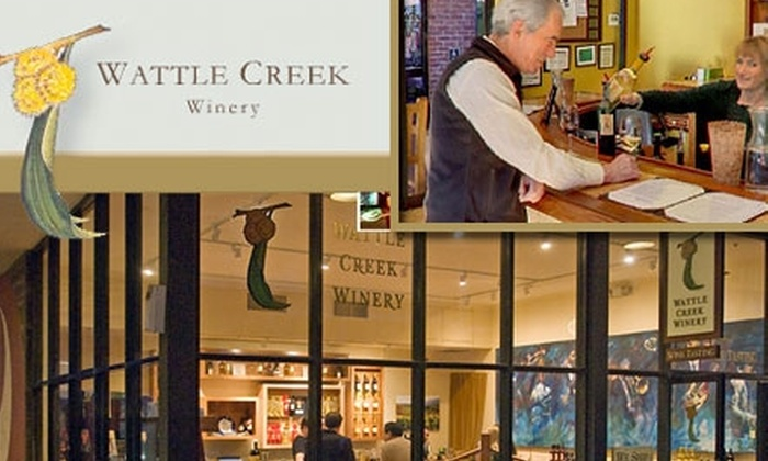 Wattle Creek Winery - Russian Hill: $25 for a Wine Tasting for Two and a Bottle of Wine at Wattle Creek Winery (Up to $52 Value)