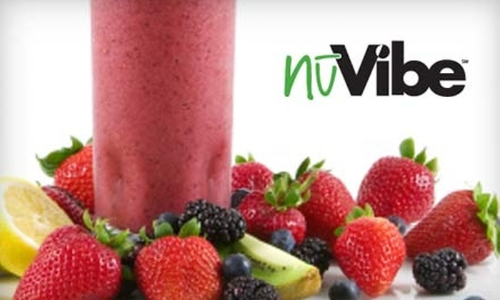 nuVibe - Multiple Locations: $5 for $10 Worth of Smoothies, Coffee, and Café Treats at nuVibe