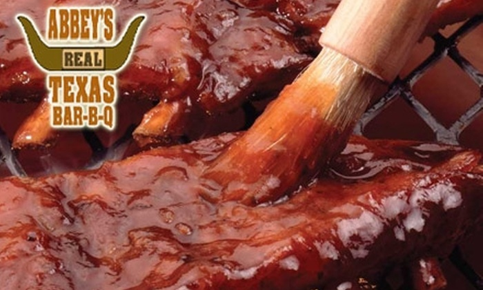 Abbey's Real Texas Bar-B-Q - San Diego: $89 for Abbey's Real Texas BBQ Deluxe Spread ($179 Value)