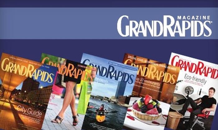 """Grand Rapids Magazine"" - Grand Rapids: $12 for One-Year Subscription to ""Grand Rapids Magazine""  ($24 Value)"