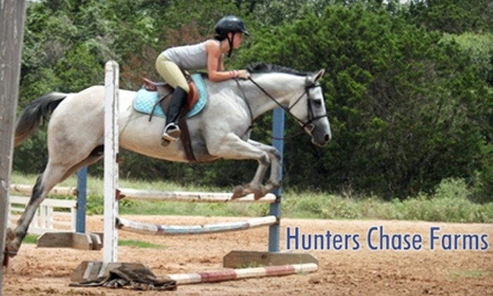 Hunters Chase Farms - Dripping Springs-Wimberley: $40 for Two Group English Riding Lessons at Hunters Chase Farms in Wimberley