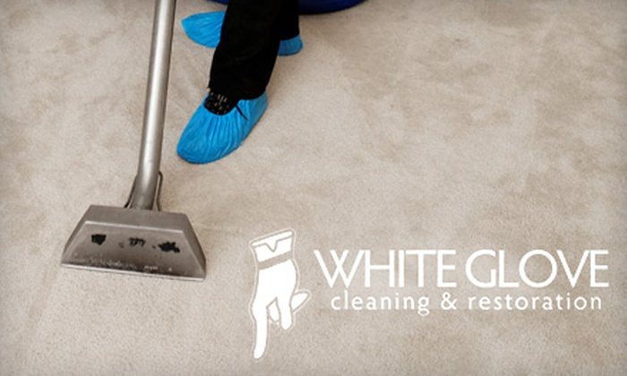 White Glove Cleaning & Restoration - White Bear Lake: $49 for Carpet Cleaning for Two Rooms from White Glove Cleaning & Restoration ($157 Value)