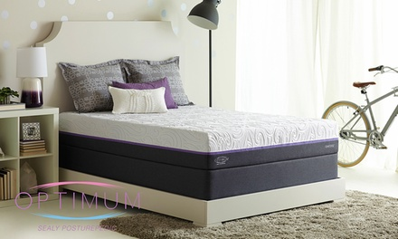 Hot Buy: Sealy Optimum 2.0 Radiance Gold Cushion Firm Mattress Set. Free White Glove Delivery. 10-Year Limited Warranty.