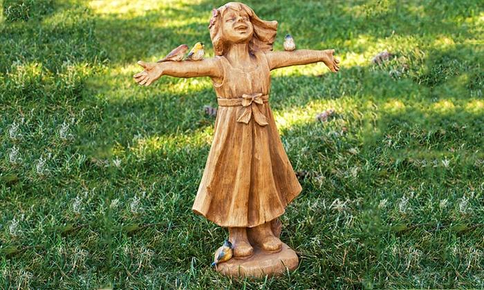 Wonderful Joy Girl Rejoicing Garden Statue: Joy Girl Rejoicing Garden Statue