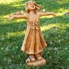 Joy Girl Rejoicing Garden Statue