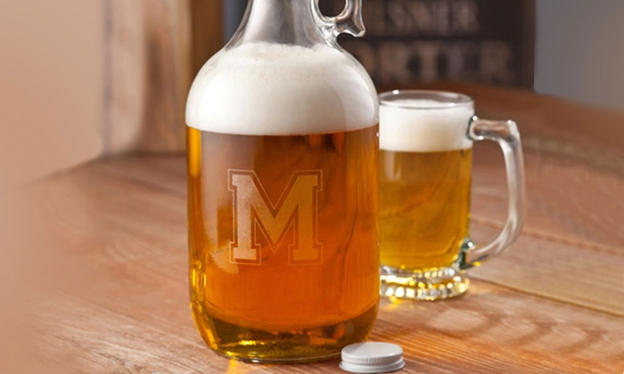 Monogram Online: $15 for a Personalized Beer Growler from Monogram Online ($50.99 Value)