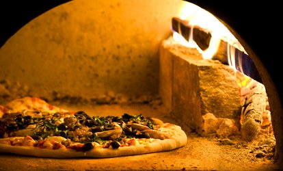 image for $12 for $20 Worth of Wood-Fired <strong>Pizza</strong> and Homemade Pasta at Pomodori's Pizzeria