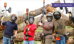 Pev's Paintball: All-Day Play and Equipment Rental for Three or Four at Pev's Paintball (Up to85% Off)