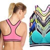 Angelina Cotton-Blend Medium-Impact Racerback Sports Bra Set (6-Pack)