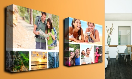 "Custom Collage Canvas from Only $9.99-$39.99 (Up to 90% Off) in sizes 16""x12"" & 30""x20"" by Printerpix"