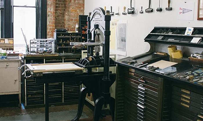 Hands-On Poster-Printing Workshop - Central Business District: Design and Print Your Own Poster with an Antique Letterpress