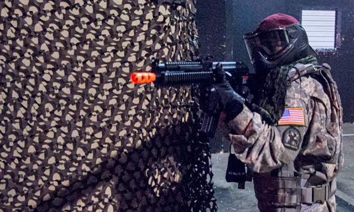 SAS Black Ops Indoor Airsoft Arena - Marietta: Indoor Airsoft Arena Outing for Two with Optional Gear Rental or Four with Gear Rental (Up to 60% Off)