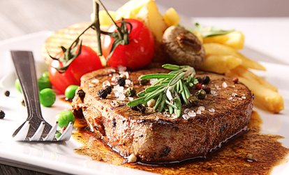 image for Steak Meal with Wine for Two or Four at The Bull at Hinton (50% Off)