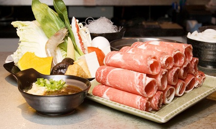 C$39 for a Japanese Hot-Pot Meal for Two at Gokudo Shabu Shabu (C$68 Value)