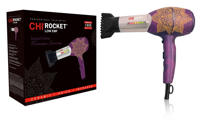 Chi Rocket Low Emf Professional Hair Dryer In Moroccan