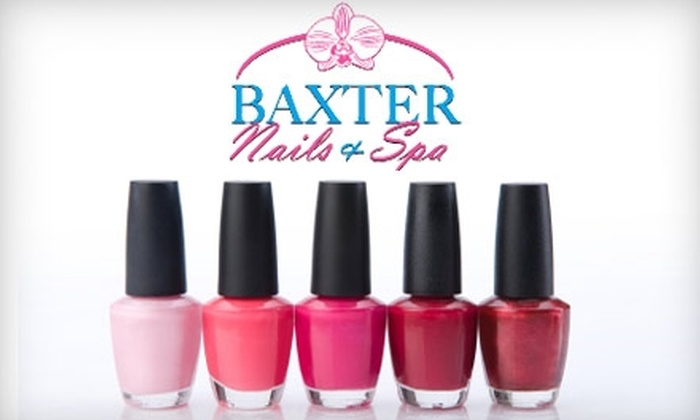 Baxter Nails and Spa - Fort Mill: $30 for Deluxe Mani-Pedi at Baxter Nails and Spa ($60 Value)