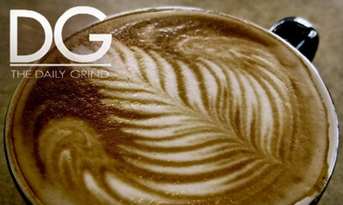 The Daily Grind - Multiple Locations: $10 for $25 Worth of Coffee and Fare at The Daily Grind. Choose One of Four Locations.