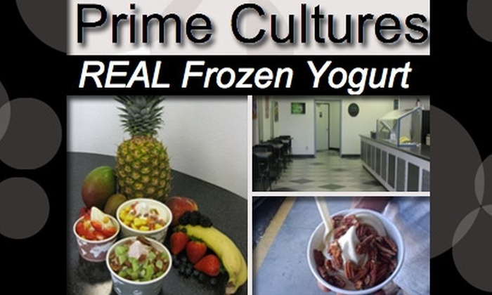 Prime Cultures Frozen Yogurt - Uptown Broadway: $4 for $10 Worth of Frozen Indulgences at Prime Cultures Frozen Yogurt