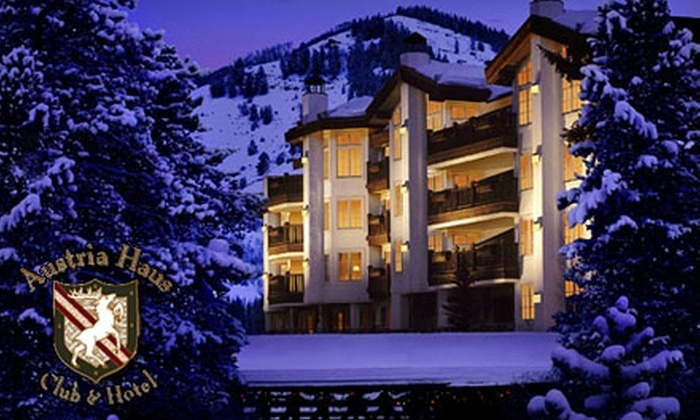 Austria Haus Hotel - Vail: One-Night Stay Plus Valet Parking, Resort Fee, and Two Continental Breakfasts at Austria Haus Hotel in Vail. Choose from Three Options.