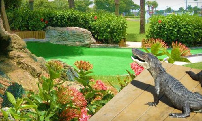 Smugglers Cove - Multiple Locations: $14 for Miniature Golf and Gator Feeding for Two at Smuggler's Cove. Five Locations Available.