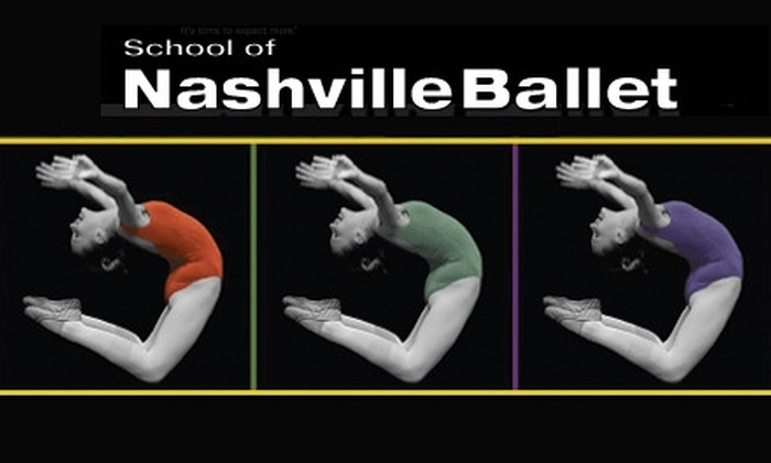 School of Nashville Ballet - Multiple Locations: $18 for Two Dance Classes at School of Nashville Ballet ($40 Value)
