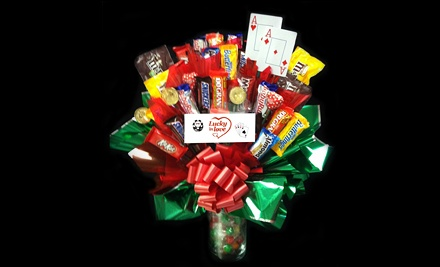 Lucky In Love Candy Bouquet (a $60 value) - The Cookie Gourmet in Tucson