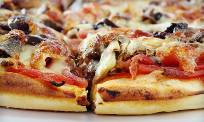 Court Of Hero's - Gainesville: Pizza Dinner for Two or Four or Open-Bar Pizza Night for Six at Court of Hero's (Up to 67% Off)