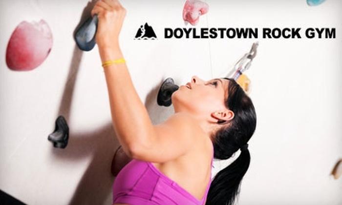 Doylestown Rock Gym - Buckingham: $7 for Introductory Rock-Climbing Package at Doylestown Rock Gym ($15 Value)