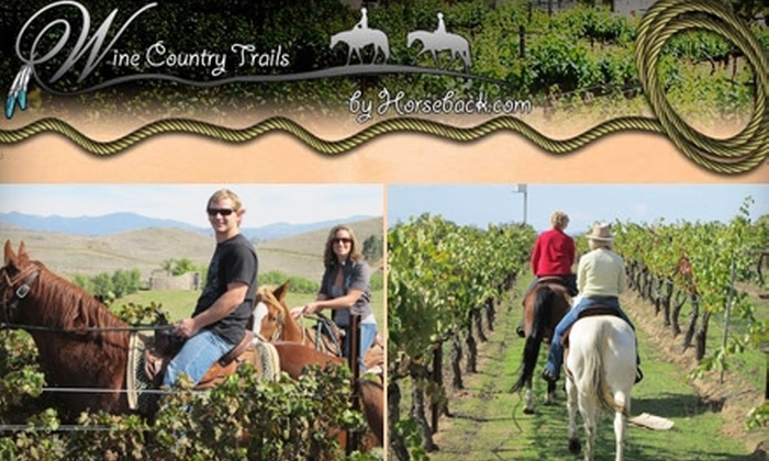 Wine Country Trails by Horseback - Los Angeles: $150 for Couples Wine Tasting, Lunch, and Horseback Riding with Wine Country Trails by Horseback