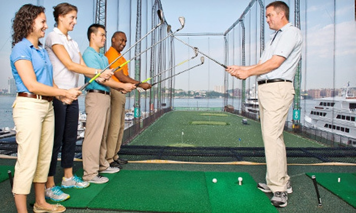 Golf Club at Chelsea Piers - New York: Golf 101 Class, Club Rental, and $20 or $50 Range-Ball Card at Golf Club at Chelsea Piers (Up to 56% Off)